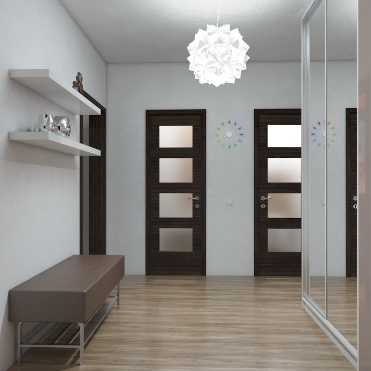 Interior design of the apartment hallway
