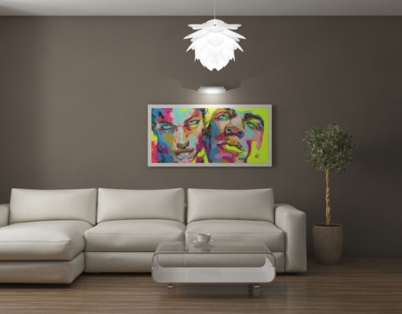 Interieur design-appartementen, woonkamer, eigentijdse stijl