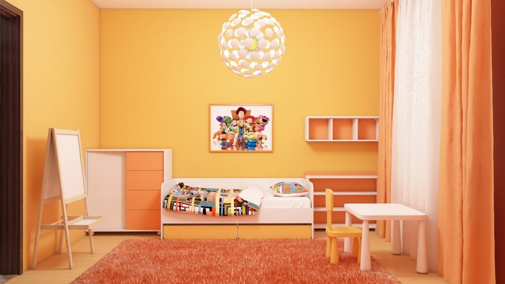 Interior design apartments, nursery