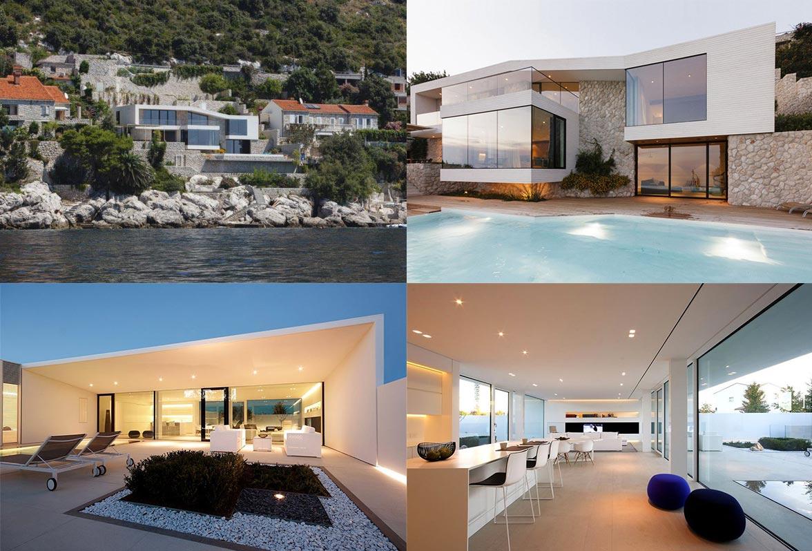conception de la maison dans le style de salut-technologie