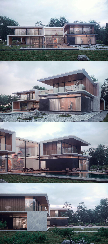 maison dans le style high-tech