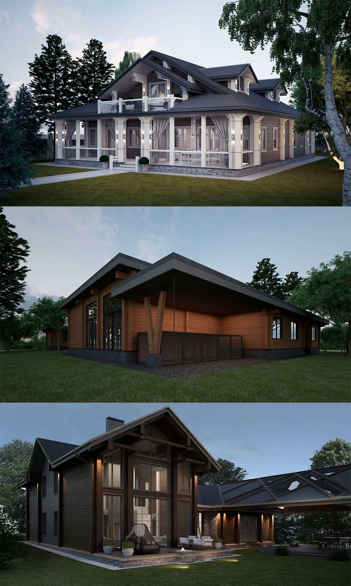 منزل خشبي مع العلية
