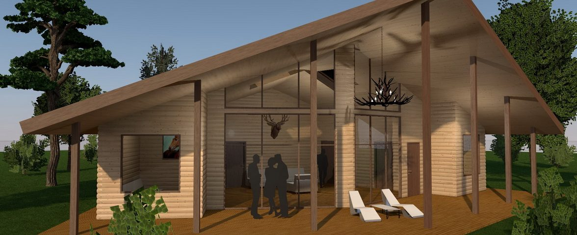 3d mô hình của một ngôi nhà