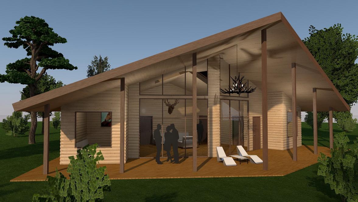 3d modello di una casa