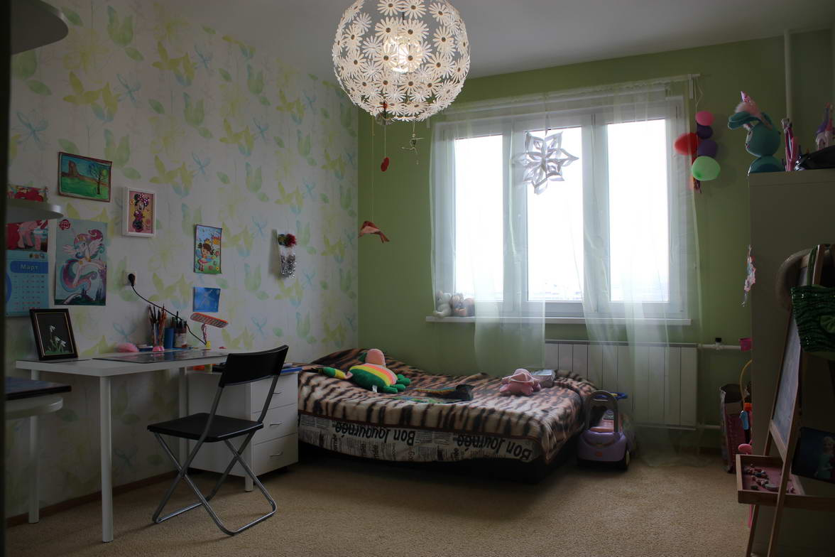 apartment renovation on the interior design of the project Children