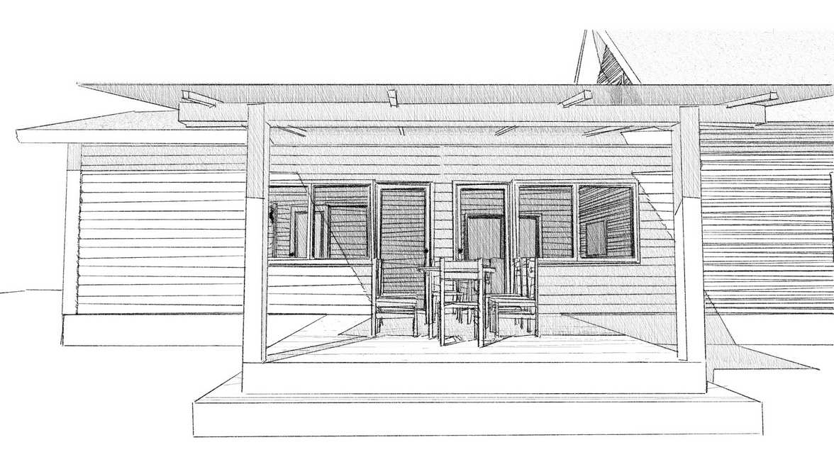 Development of the project baths and verandas
