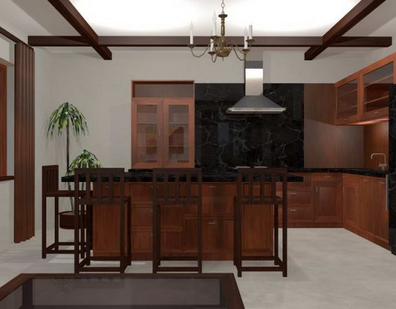 Elutuba interjööri maamajas köök