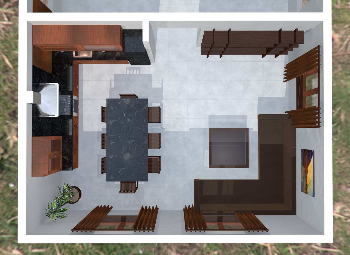 Living room interior plan
