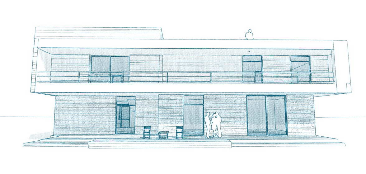House sketch tech facade