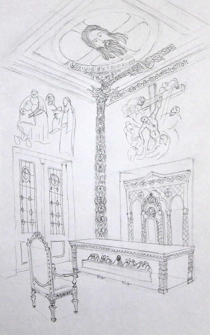 Návrh interiéru náboženské kanceláře