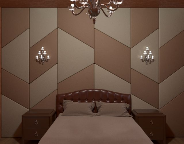 interior design bedrooms with soft wall panel